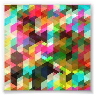 Färben-Abstrakt-Vektor-Kunst BUNTE DREIECKE SQU Fotodrucke
