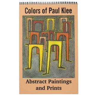 Farben abstrakter Malereien und der Drucke Pauls Abreißkalender