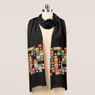 Farben auf Schwarzem Schal