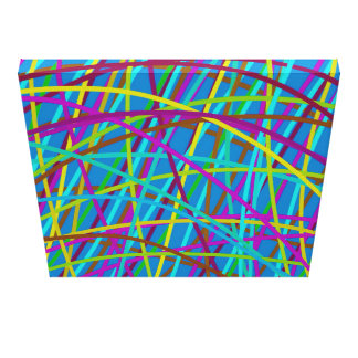 Farben-Bahnen - Blau Leinwanddruck