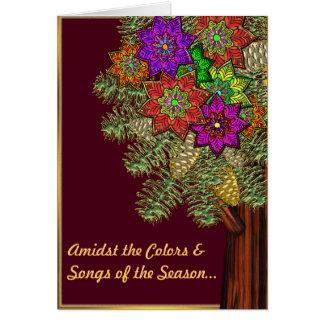 Farben der Jahreszeit Karte