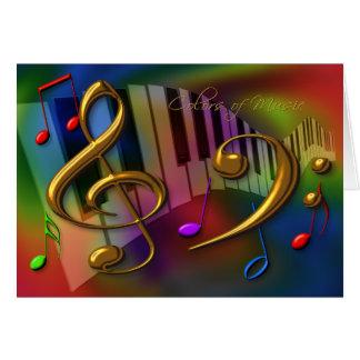 Farben der Musikkarte Karte