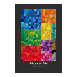Farben der Schienen (dunkel) Poster