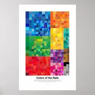 Farben der Schienen (Licht) Poster
