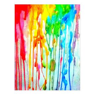 Farben des Lebens Postkarte