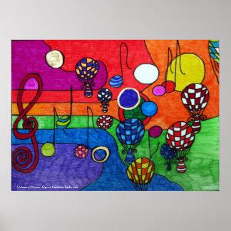 Farben des Musik-Plakats Poster