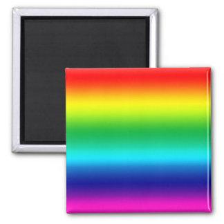 Farben des Regenbogens Quadratischer Magnet