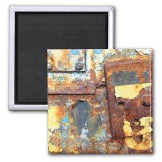Farben des Rosts 01.ob.1, ROSTart Quadratischer Magnet