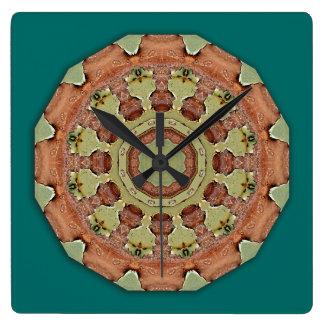 Farben des Rosts 712_R, Rost-Kunst Quadratische Wanduhr