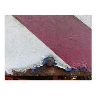 Farben des Rosts/der Rost-Kunst Postkarte