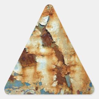 Farben des Rosts Ob3.0, Rost-Kunst Dreieckiger Aufkleber