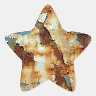 Farben des Rosts Ob3.0, Rost-Kunst Stern-Aufkleber