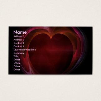 Farben meiner Herz-Visitenkarte Visitenkarte