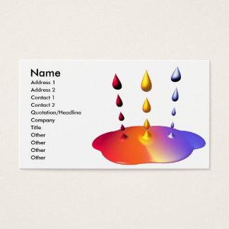 Farben-Mischung - Geschäfts-Größe Visitenkarte