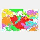 Farben Rechteckiger Aufkleber