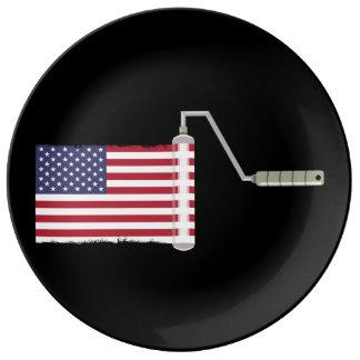 FARBEN-ROLLE USA mit Schatten alle kauft Seite Teller
