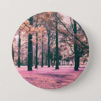 Färben Sie bewirkte Bäume in Yoyogi Park in Tokyo Runder Button 7,6 Cm