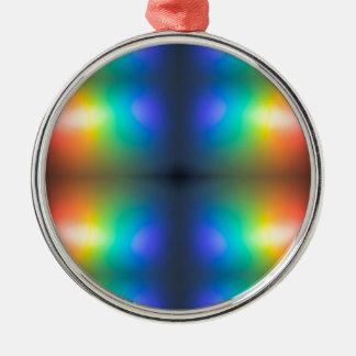 Färben Sie Chaoszusammenfassung Silbernes Ornament