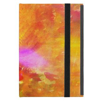 färben Sie das nahtlose Hintergrundgelb der Kunst, iPad Mini Etui