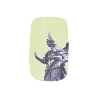 Färben Sie Effekt, gefilterte, moderne einfache Minx Nagelkunst