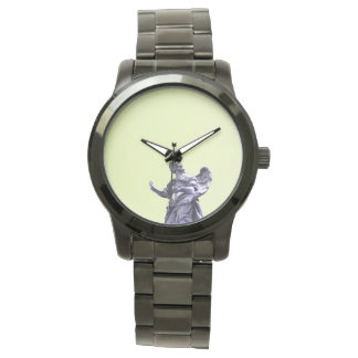 Färben Sie Effekt, gefilterte, moderne einfache Uhr