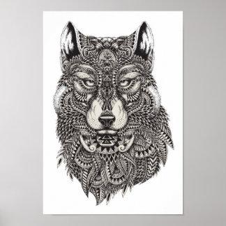 Färben Sie es Plakat-Wolf Poster