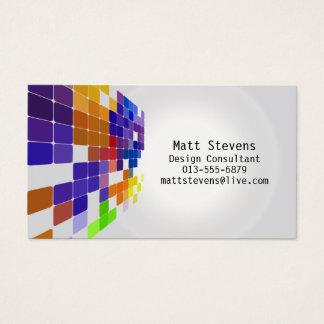 Färben Sie Fliesen-Gitter-violette Visitenkarte