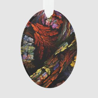Färben Sie Harmonie-abstrakte Kunst-Acryloval Ornament