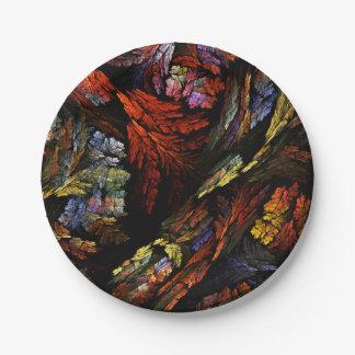 Färben Sie Harmonie-abstrakte Kunst Pappteller