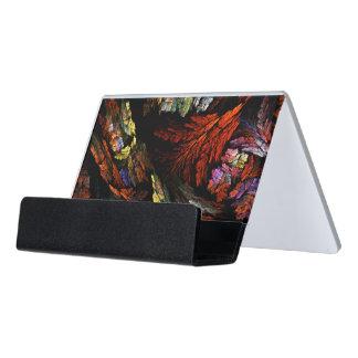 Färben Sie Harmonie-abstrakte Kunst Schreibtisch-Visitenkartenhalter