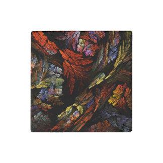 Färben Sie Harmonie-abstrakte Kunst Stein-Magnet