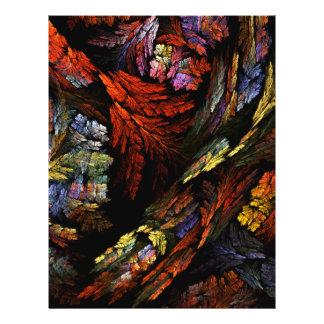 Färben Sie Harmonie-abstrakten Kunst-Flyer 21,6 X 27,9 Cm Flyer