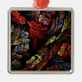 Färben Sie Harmonie-abstraktes Kunst-Quadrat Silbernes Ornament