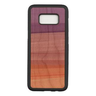 Färben Sie Kirschholz-Kasten Samsung-Galaxie-S8 Carved Samsung Galaxy S8 Hülle