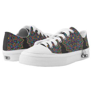 Färben Sie Mandala-niedrige Spitzenschuhe Niedrig-geschnittene Sneaker
