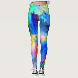 Färben Sie mich ein Regenbogen-Gamaschen Leggings