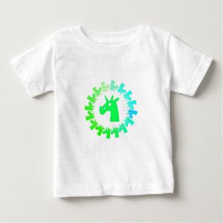 Färben Sie mich grünes Einhorn Baby T-shirt