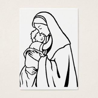 Färben Sie mich Mary /Baby Jesus Visitenkarte