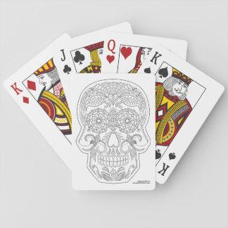 Färben Sie mich Tag der toten Spielkarten