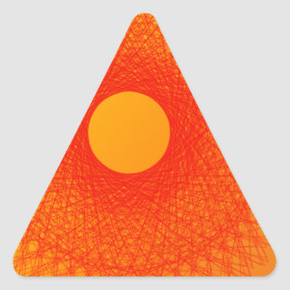 färben Sie orange happines abstrakte Kunst Dreieckiger Aufkleber