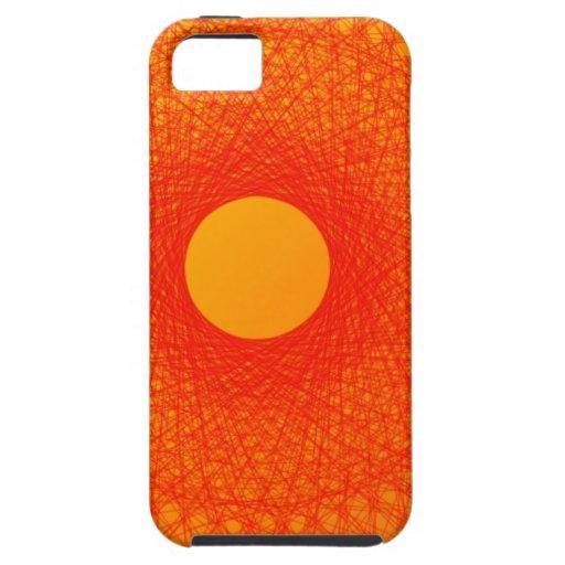 färben Sie orange happines abstrakte Kunst iPhone 5 Cover