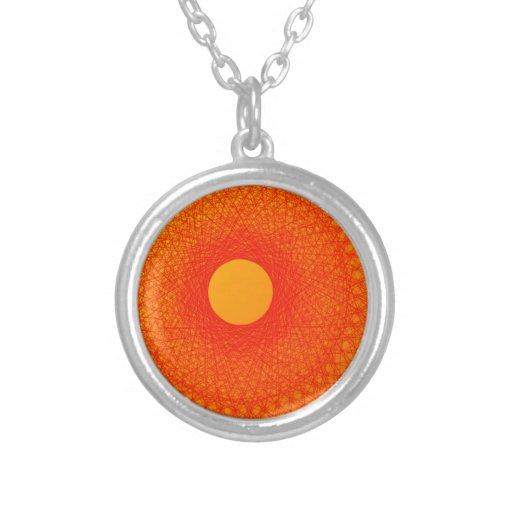 färben Sie orange happines abstrakte Kunst Personalisierte Halskette