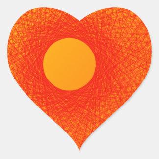 färben Sie orange happines abstrakte Kunst Herz Sticker