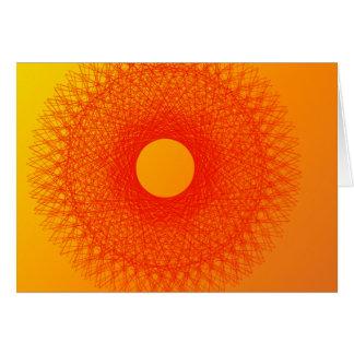 färben Sie orange happines abstrakte Kunst Grußkarte