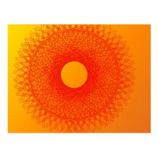 färben Sie orange happines abstrakte Kunst Postkarte