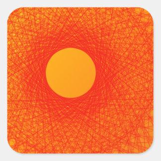 färben Sie orange happines abstrakte Kunst Quadrat-Aufkleber