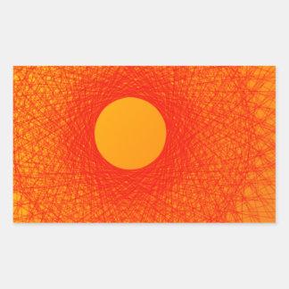 färben Sie orange happines abstrakte Kunst Rechteckiger Aufkleber