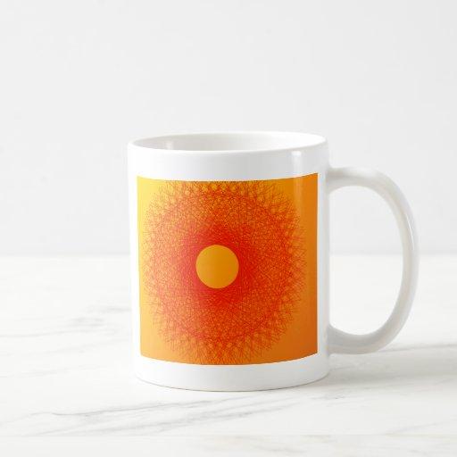 färben Sie orange happines abstrakte Kunst Kaffeehaferl