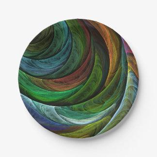 Färben Sie Ruhm-abstrakte Kunst Pappteller