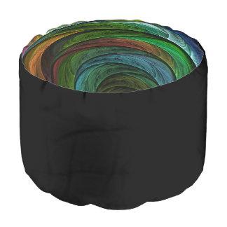 Färben Sie Ruhm-abstrakte Kunst rund Hocker